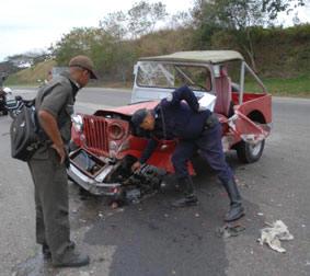 Alarma por accidentes del  tránsito